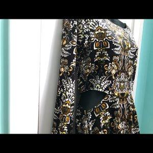 Volcom Dresses - VOLCOM Velvet Cut Out Dress